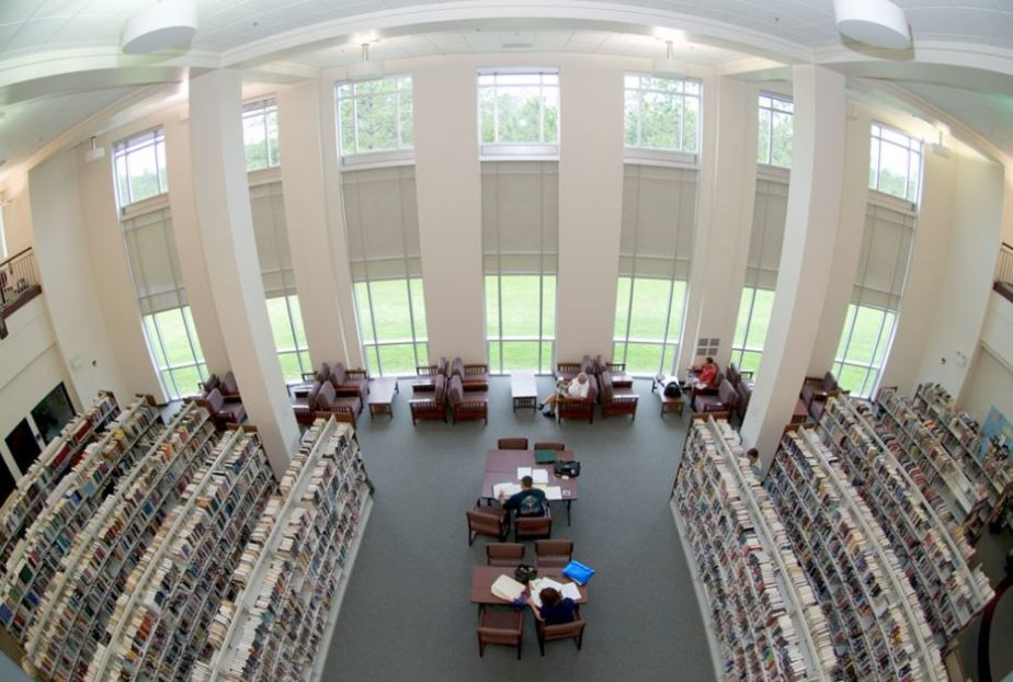 FAU LIBRARY FROM UPSTAIRS
